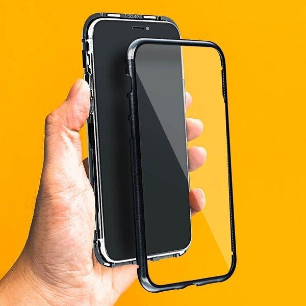 Telefoniümbris Magneto iPhone XS Max, must/läbipaistev tagasiside