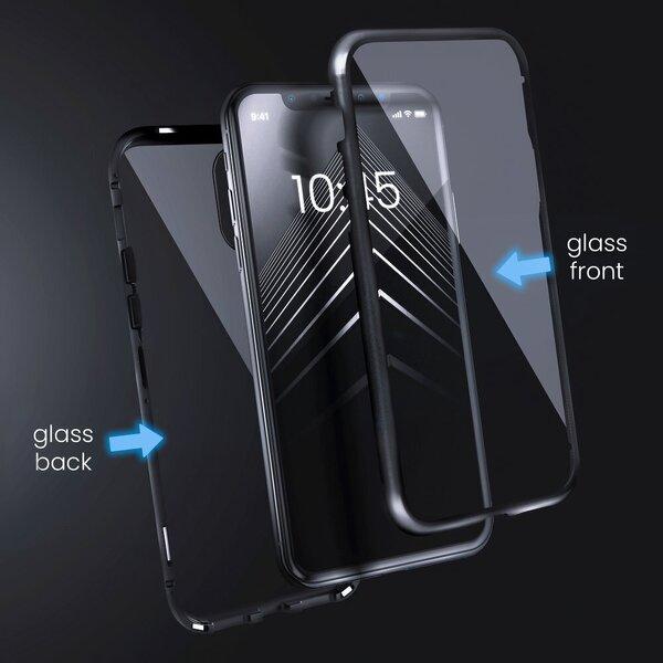 Telefoniümbris Magneto Samsung Galaxy S20 FE, must/läbipaistev