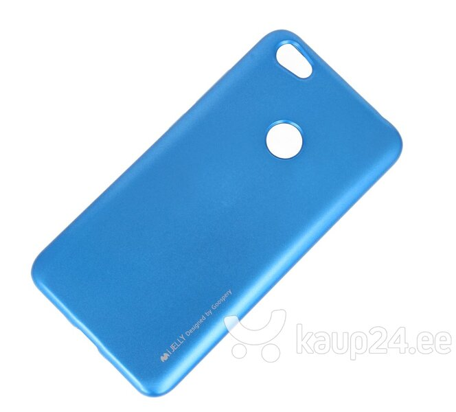 Mercury i-Jelly Back Case Strong Silicone Case With Metallic Glitter for Apple iPhone XS MAX Blue hind