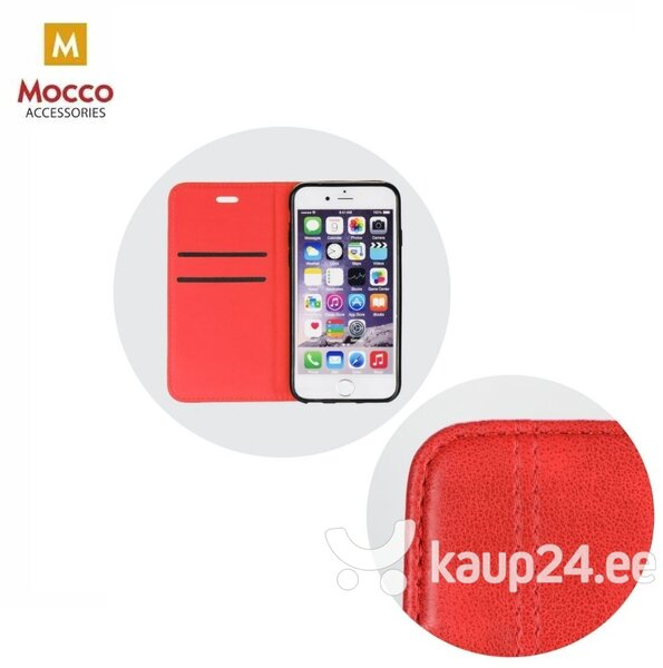 Mocco Smart Focus Book Case For Apple iPhone XS / X Red Internetist