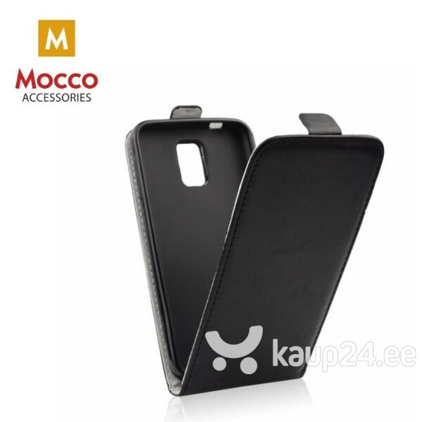 Mocco Kabura Rubber Case Vertical Opens Premium Eco Leather Case Xiaomi Redmi 6A Black hind ja info | Telefoni kaaned, ümbrised | kaup24.ee