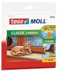 Уплотнительная резинка Tesa E-профиль, коричневая