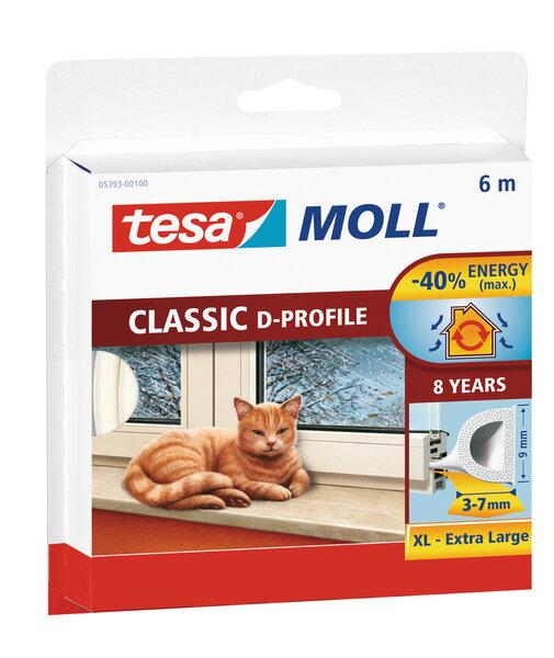 Tesa D-Profiil kummist aknatihend, valge цена и информация | Isolatsiooni- ja tihendus pakkematerjal | kaup24.ee