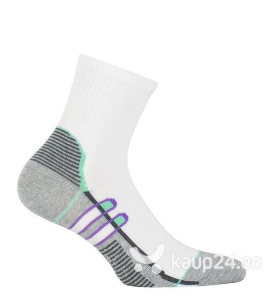 Naiste hõbedaioonidega spordisokid Ag+ WOLA, hall/valge цена и информация | Naiste sukkpüksid, sokid ja retuusid | kaup24.ee