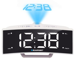 Raadio-äratuskell Blaupunkt CRP7WH PROJECTOR/FM/USB hind ja info | Raadio-äratuskell Blaupunkt CRP7WH PROJECTOR/FM/USB | kaup24.ee