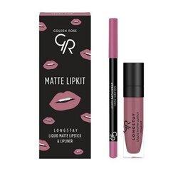 Huulemeigi komplekt Golden Rose Longstay matte Lipkit Blush Pink: matt vedel huulepulk Longstay Liquid Matte nr 03 5,5 g + huulepliiats Dream Lips Liner nr 535 1,6 g hind ja info | Huulepulgad, -läiked, -palsamid, vaseliin | kaup24.ee