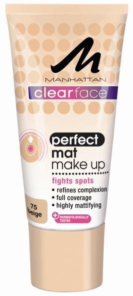 Тональный крем Manhattan Clear Face Perfect Mat 30 мл цена и информация | Näole | kaup24.ee
