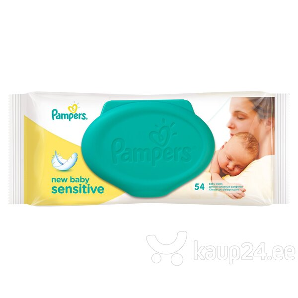Salvrätikud Pampers New baby Sensitive 54 tk. цена и информация | Mähkmed ja mähkimislinad | kaup24.ee