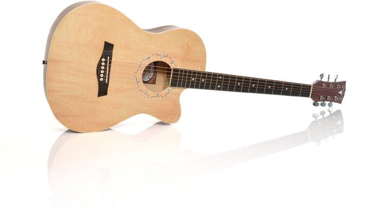 Akustiline kitarr Adonis AGAW3921C N 39'', hele puit цена и информация | Muusikainstrumendid ja tarvikud | kaup24.ee