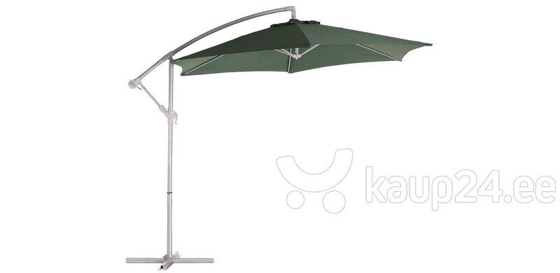 Уличный зонтик с подставкой, зеленый цена и информация | Päikesevarjud, markiisid ja alused | kaup24.ee