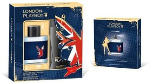 Komplekt Playboy London: EDTmeestele 50ml + dušigeel 250ml