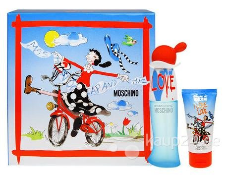 Комплект для женщин Moschino Cheap & Chic I Love Love: туалетная вода EDT 30 мл + лосьон для тела 50 мл