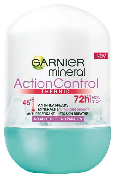 Rulldeodorant Mineral Action Thermic Garnier, 50 ml hind ja info | Deodorandid | kaup24.ee
