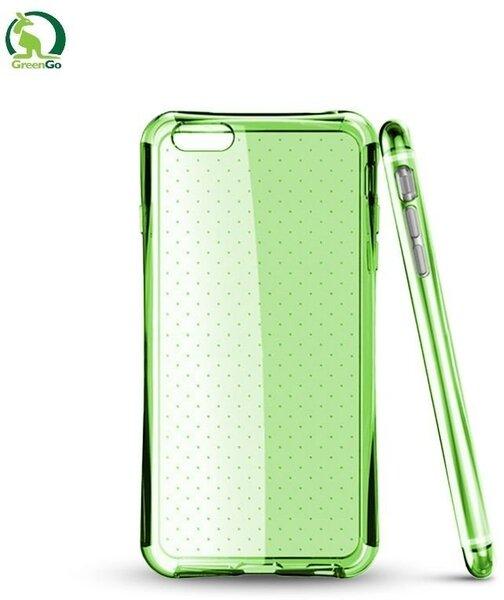 Kaitseümbris GreenGo sobib Samsung Galaxy J5 (J500), läbipaistev/roheline цена и информация | Mobiili ümbrised, kaaned | kaup24.ee