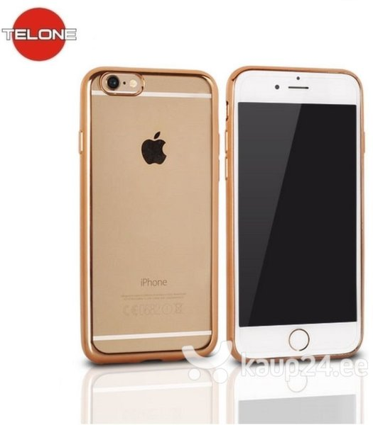 Kaitseümbris Telone Super Thin sobib Apple iPhone 6/6S, läbipaistev/kuldne цена и информация | Mobiili ümbrised, kaaned | kaup24.ee