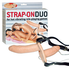 Vibraator Strap-On Duo