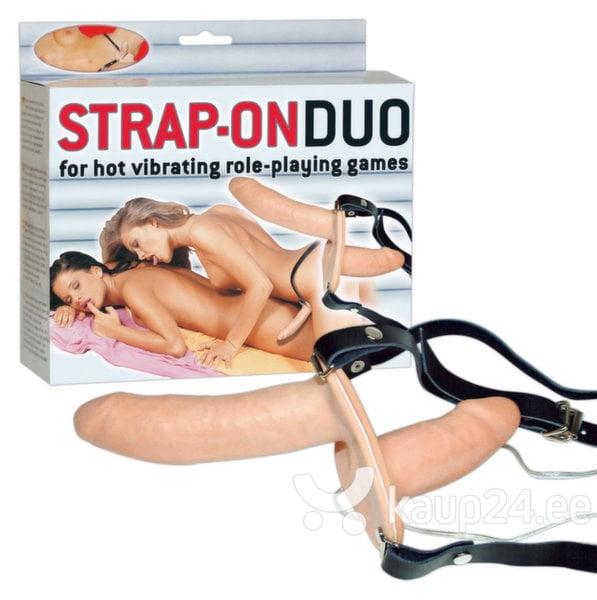 Vibraator Strap-On Duo