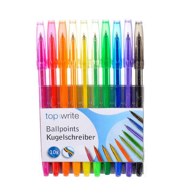 Värvilised pastakad Topwrite, 10 tk. цена и информация | Värvimis- ja kirjutusvahendid | kaup24.ee