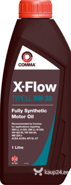 Mootoriõli Comma X-FLOW TYPE LL 5W-30, 1L