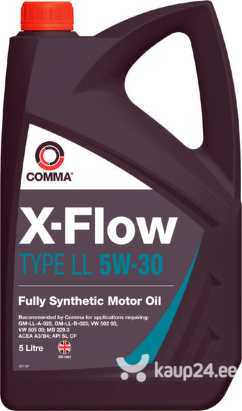 Mootoriõli Comma X-FLOW TYPE LL 5W-30, 5L цена и информация | Mootoriõlid | kaup24.ee
