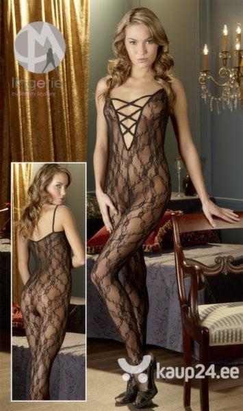 Naiste seksikas sukk-kostüüm I, must цена и информация | Seksikas pesu naistele | kaup24.ee