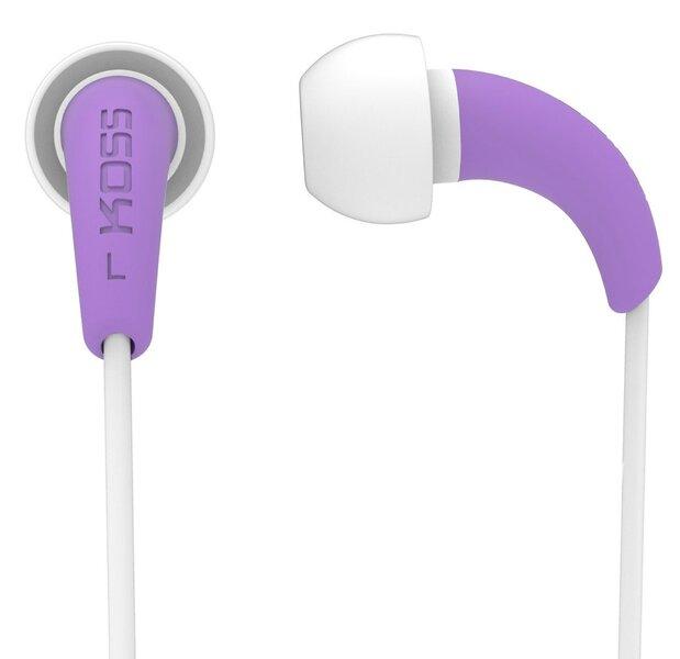 Kõrvaklapid KOSS KEB32P sportimiseks ja vabaaja veetmiseks, lilla цена и информация | Kõrvaklapid, mikrofonid | kaup24.ee