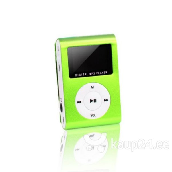 MP3-mängija Setty Metal Clip MP3, roheline цена и информация | MP3-mängija, MP4-mängija | kaup24.ee