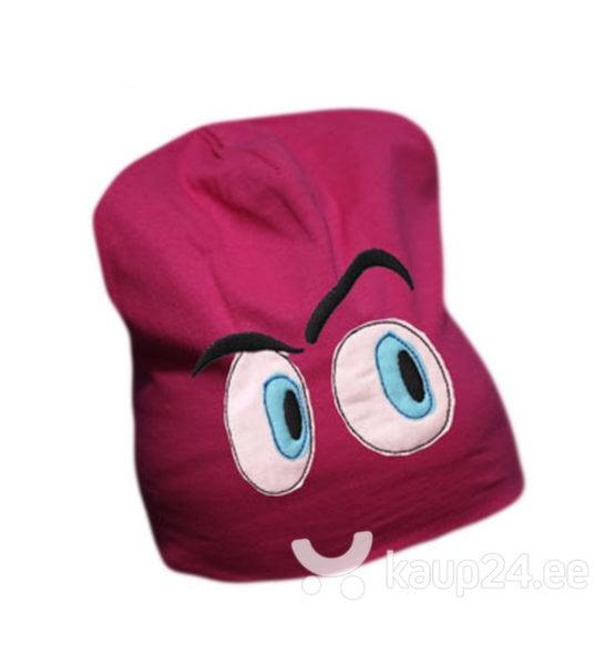 Laste müts Silmad II, roosa цена и информация | Laste aksessuaarid | kaup24.ee