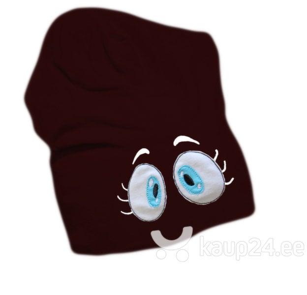 Laste müts Silmad, pruun цена и информация | Laste aksessuaarid | kaup24.ee