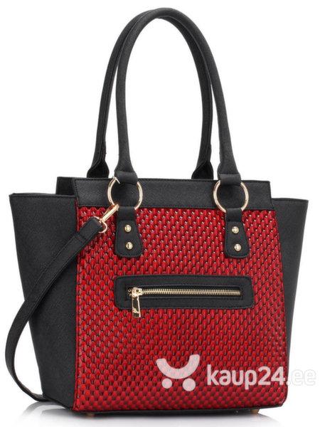 Naiste käekott Fleur X, must/punane цена и информация | Naiste käekotid | kaup24.ee