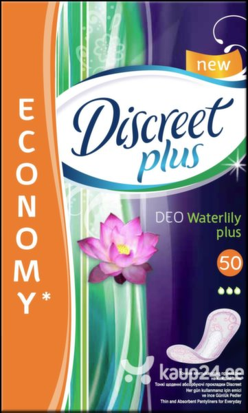 Pesukaitsmed Discreet Plus Deo Water Lily, 50 tk