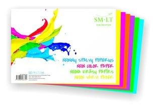 Värviline paber Smiltainis, neoon värvid A4, 6 lehte