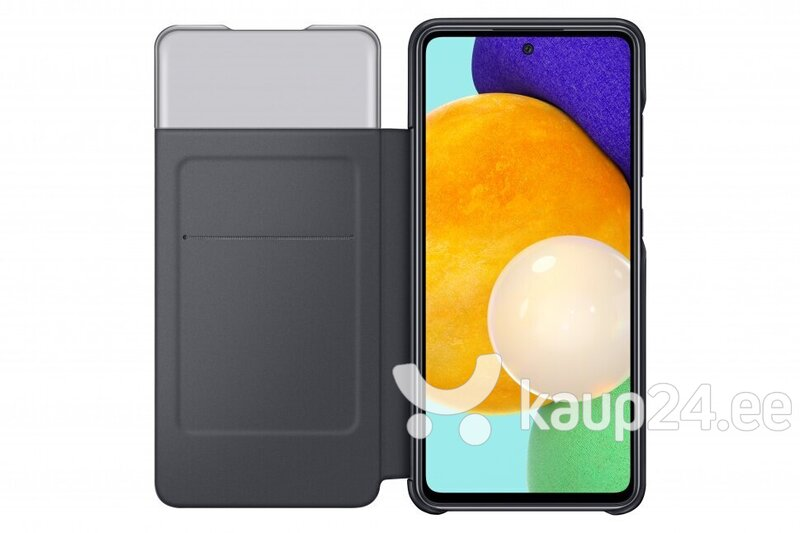 Samsung Smart S View Wallet ümbris telefonile Samsung Galaxy A52, Black