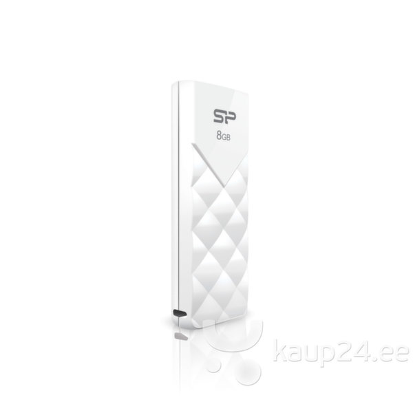 USB Карта памяти SILICON POWER 8GB, USB 2.0 FLASH DRIVE ULTIMA U03, WHITE (Белая)