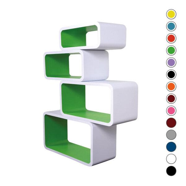 Riiulite komplekt CUBE LO01 valge roheline