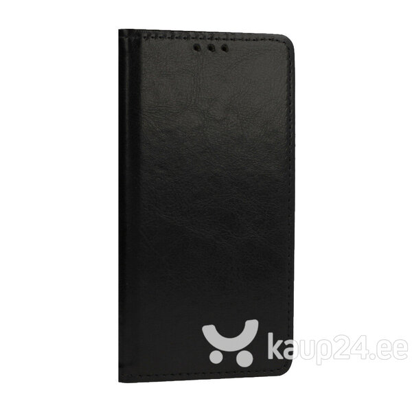 Telefoniümbris Leather book LG K51S, must