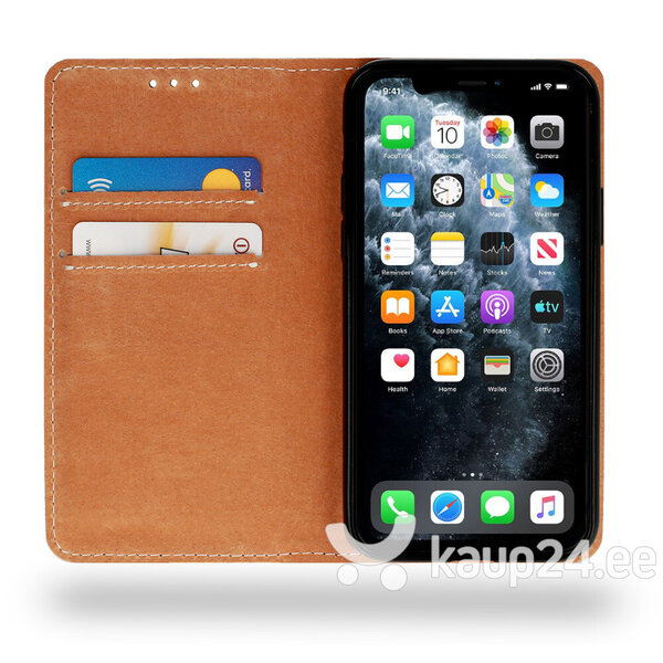 Telefoniümbris Leather book Huawei P20 Lite 2019, must tagasiside