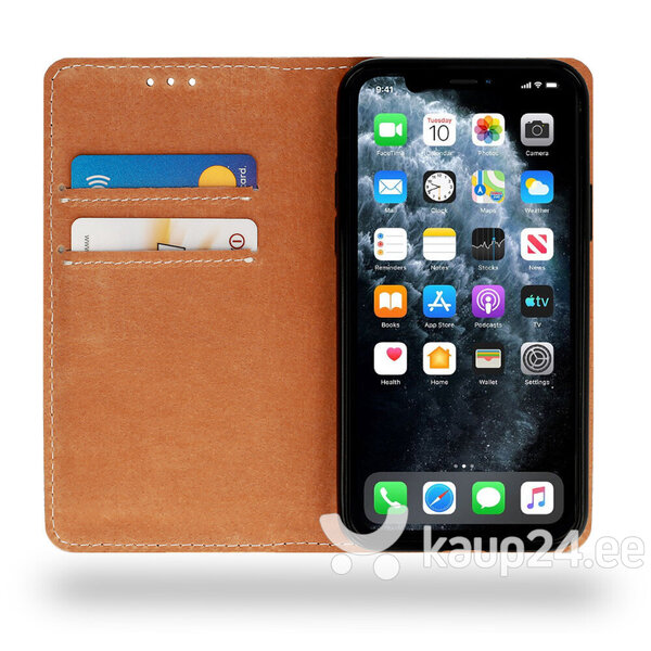 Telefoniümbris Leather book Samsung Galaxy A11 / M11, must tagasiside