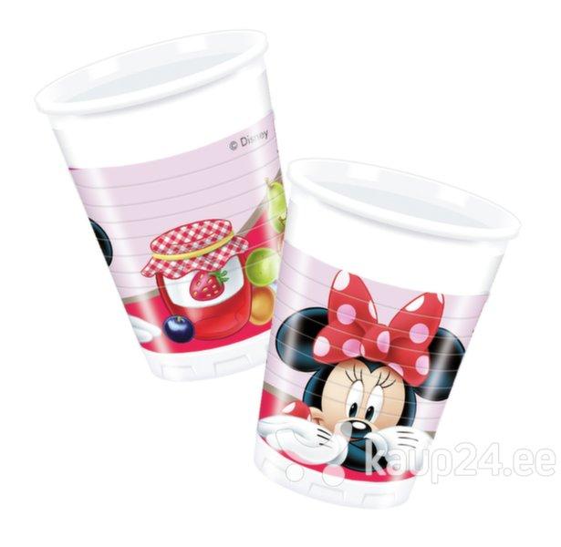 Plastikust topsid Minnie Mouse 8 tk., 200 ml цена и информация | Peolaua kaunistused, dekoratsioonid | kaup24.ee
