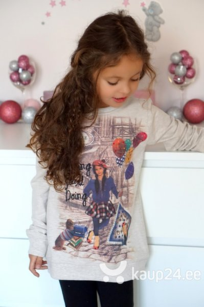Tüdrukute dressipluus Breeze Girls, beež цена и информация | Tüdrukute riided | kaup24.ee