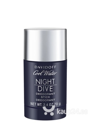 Pulkdeodorant Davidoff Cool Water Night Dive meestele, 75 ml цена и информация | Lõhnastatud kosmeetika meestele | kaup24.ee