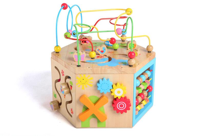 Ergoteraapiline arendav puidust kuubik Gerardo's toys 39271 цена и информация | Imikute mänguasjad | kaup24.ee