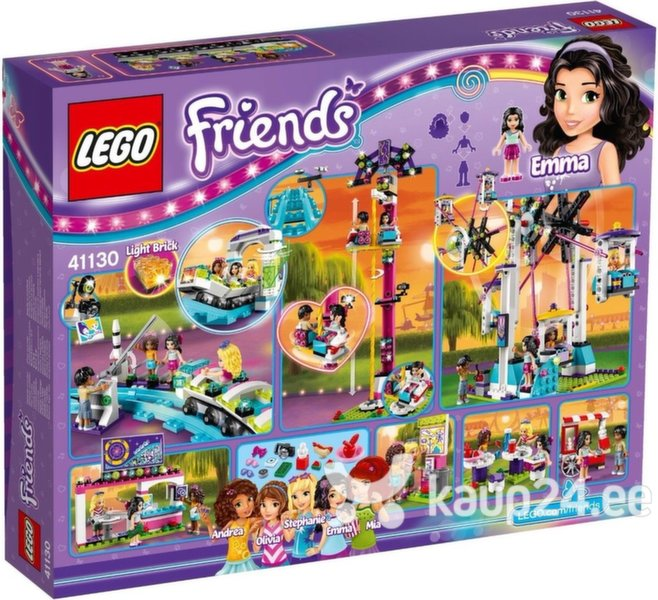 Klotsid LEGO™ Friends Amusement Park Roller Coaster 41130 цена и информация | Kokkupandavad mänguasjad | kaup24.ee