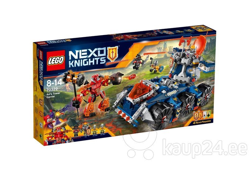 Klotsid LEGO™ Nexo Knights Axl's Tower Carrier 70322 цена и информация | Kokkupandavad mänguasjad | kaup24.ee