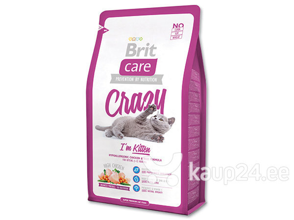 Kuivtoit kassidele Brit Care Kitten Crazy 7 kg цена и информация | Kuivtoit kassidele | kaup24.ee