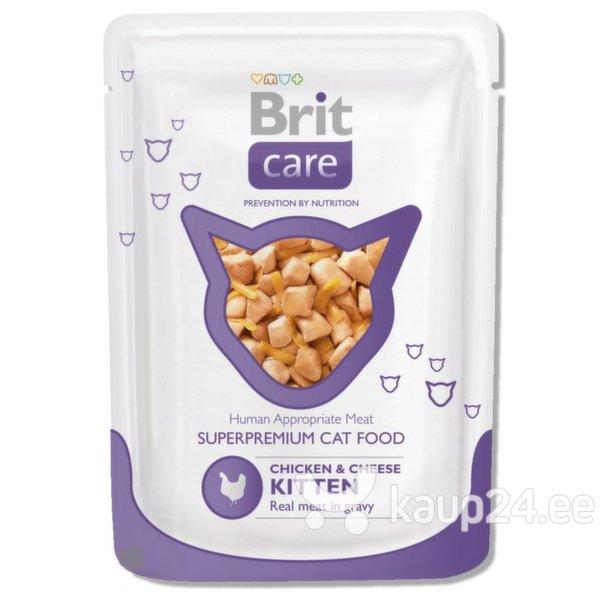 Konserv kassidele BRIT CARE Kitten Chicken & Cheese 80g цена и информация | Konservid kassidele | kaup24.ee