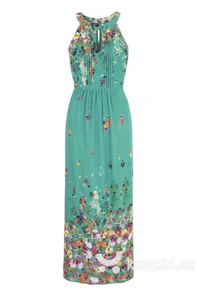 Naiste kleit Uttam Boutique, roheline lilledega цена и информация | Kleidid | kaup24.ee