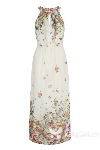 Naiste kleit Uttam Boutique, elevandiluu lilledega цена и информация | Kleidid | kaup24.ee