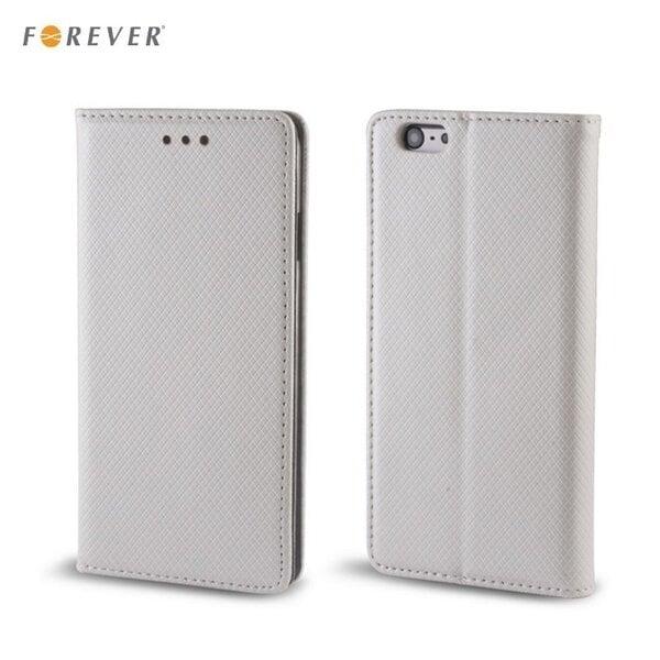 Kaitseümbris Forever Smart Magnetic Fix Book sobib LG K10 (K420N), hõbedane