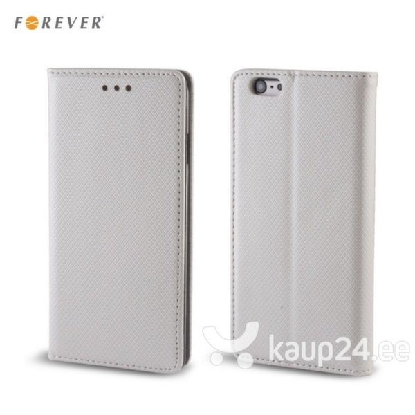 Kaitseümbris Forever Smart Magnetic Fix Book sobib Samsung Galaxy S7 (G930F), hõbedane